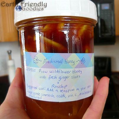 finished medicinal honey