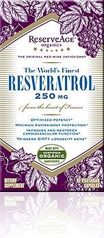 Organic Resveratrol from ReserveAge Organics