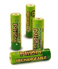 PowerGenix Nickel Zinc Rechargeable AA Batteries