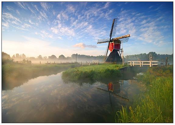Morning mill in Oud Zuilen by Jeroen van Daal