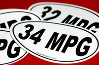 MPG Stickers-show off your fuel efficiency