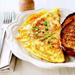 wild rice elk bratwurst omelet