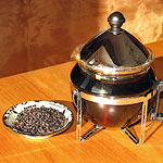 brewing elderberry tea
