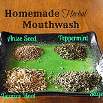 making homemade mouthwash
