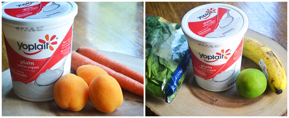 ingredients to make your own frozen yogurt pops